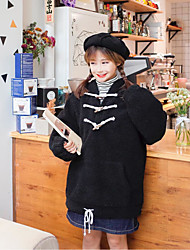 знак ~ корейское рыхлый рог кнопку баранина&# 39, S шерстяной свитер женский хеджирование