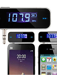 Mini Wireless-3,5-mm-Auto-Kit Modulator Freisprecheinrichtung MP3-Audio Musik-Player FM-Transmitter im Auto lcd Fahrzeug für iphone