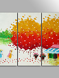 Tela de impressão Abstrato Paisagem Moderno Pastoril,3 Painéis Tela Horizontal Impressão artística Decoração de Parede For Decoração para
