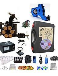 Kit de tatouage complet1 x Machine à tatouer rotative pour le traçage et l'ombrage 1 machine de tatouage x alliage pour la doublure et