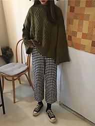 Zeichen ~ 2017 Frühlingsmodelle schicke neue Wendung Rundhals Pullover Pullover Mantel weibliche Gezeiten