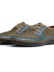 Hombre Zapatillas de deporte Confort Sintético Verano Casual Con Cordón Tacón Plano Naranja Gris Marrón Claro Verde Oscuro 5 - 7 cms