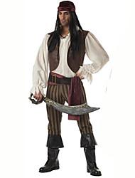 Costumes de Cosplay Pirate Fête / Célébration Déguisement d'Halloween Marron Couleur Pleine Carnaval Masculin Coton