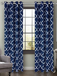 One Panel Curtain Modern , Geometic Living Room Polyester Material Blackout Curtains Drapes Home Decoration For Window