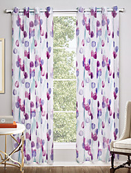 Two Panels Curtain Modern Novelty Living Room Polyester Sheer Curtains Shades Home Decoration For Window