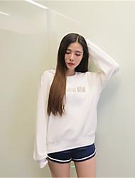 подписать корейский свободные длинными рукавами вышитые буквы хеджирование свитер студенток