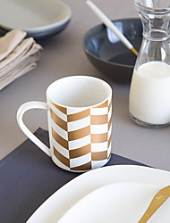 Minimalism Drinkware, 320 ml Simple Geometric Pattern Ceramic Juice Milk Coffee Mug