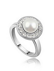 Women's Ring Natural Pearl Leather Alloy Jewelry For Daily