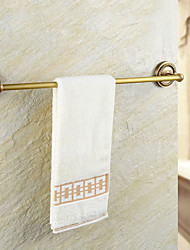 Antique Brass-plated finishing Brass Material Double Towel Bar