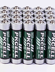 Pkcell R03P AA Carbon Zinc Battery 1.5V 20 Pack Super Heavey Duty