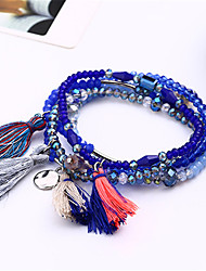 5pcs/set Bohemia Seed Bead Tassels Handmade Coloured Woven Friendship Strand Charm Bracelet Set