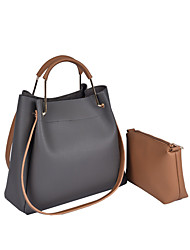 Women Bags All Seasons PU Shoulder Bag with for Casual Sports Formal Outdoor Office & Career Brown Black Gray Arm Green