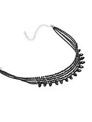 Choker Necklaces Jewelry Crystal Jewelry Resin Nylon Tassel Fashion Euramerican Beaded Handmade European Jewelry For Daily Casual