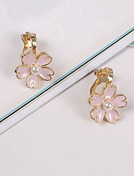 Non Stone Clip Earrings Jewelry Daily Casual Alloy 1 pair Yellow Gold