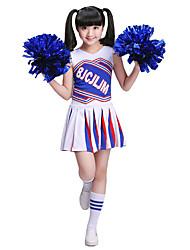 Devemos vestidos de traje de cheerleader Crianças empilhando 2 peças de traje de dança