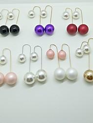Boucles d'Oreille Boucles d'oreilles Bijoux Original Pendant Mode Le style mignon Mariage Soirée Alliage Imitation de perle 1 paire