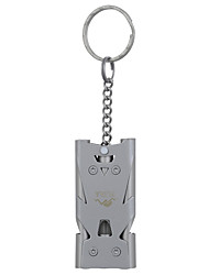 FURA Outdoor Tri-Channel Stainless Steel Survival  Whistle - Grey / Golden / Colorful