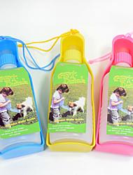 Gato Cachorro Tigelas e Bebedouros Animais de Estimação Tigelas e alimentação de animais Portátil Vermelho Azul Amarelo Plástico