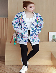 Sign XL fall and winter clothes women fat mm thick hooded sweater jacket printing fat sister 200 pounds
