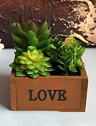 Faux Potted Succulents Table desk artificial plants