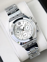 Women's Fashion Watch Water Resistant / Water Proof Quartz Stainless Steel Band Cool Casual Luxury Silver