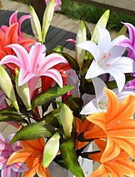 1 Ast Kunststoff Lilien Boden-Blumen Künstliche Blumen 30*30*100
