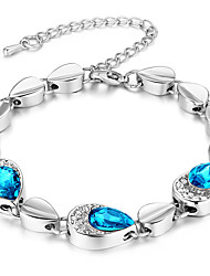 Women's Chain Bracelet Crystal Crystal Alloy Natural Fashion Triangle Shape Red Blue Jewelry 1pc