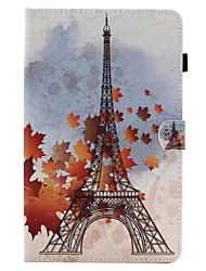 For Card Holder with Stand Flip Case Full Body Case Eiffel Tower Hard PU Leather for Apple iPad 6 ipad 5