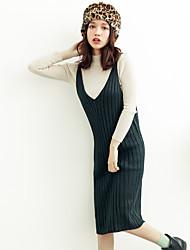 в осенне-зимний длинный свитер платье женщин пассивом жилет использовать ремень платье юбка 2016 новый зимний вязать платье