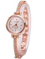 Women's Bracelet Watch Wrist watch Simulated Diamond Watch Quartz Imitation Diamond Rhinestone Alloy Band Charm Gold Strap Watch
