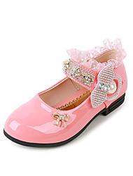 Girls' Sandals Spring Summer PU Wedding Dress Party & Evening Bowknot Sequin Sparkling Glitter Fuchsia Red Blushing Pink