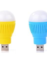2pcs портативный мини USB LED свет колбы лампы компьютер периферийное устройство USB свет ramdon цвет