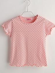 Baby T-Shirt,Lässig/Alltäglich Punkte-Baumwolle-Sommer-Rosa