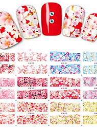 1pcs 12design Beautiful Flower DIY Nail Art Sticker Full Cover Water Transfer Decals Beauty Decoration BN73-84
