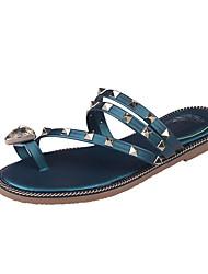 Damen-Sandalen-Lässig-PU-Flacher Absatz-Komfort