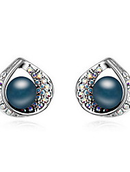 Women's Stud Earrings Pearl Love Natural Pearl Alloy Jewelry Jewelry For Daily