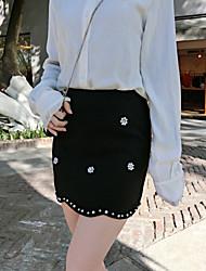 eine Frau Zeichen nett koreanische Version war dünne Taille Rock Rock wollene Röcke Wort Perle Volants