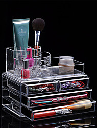 Acrylic Cosmetic Organizer Drawer Makeup Case Storage Insert Lipstick Gloss Holder Box Cosmetic Case Shelf Organizer
