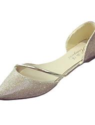 Damen Flache Schuhe Komfort PU Frühling Komfort Flacher Absatz Gold Silber Flach