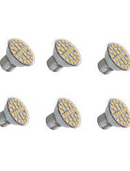 3W E27 Lampe de Décoration 29 SMD 5050 200-300 lm Blanc Chaud Blanc Froid AC 100-240 V 6 pièces