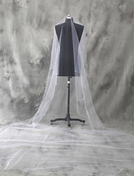 Wedding Veil One-tier Cathedral Veils Beaded Edge Tulle