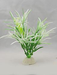 Оформление аквариума Водное растение Искусственная Пластик Белый