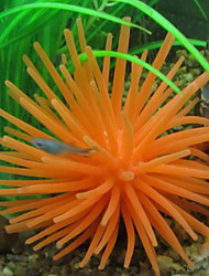 Décoration d'aquarium Ornements Non toxique & Sans Goût Silicone Orange