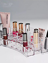 Lipstick Cosmetic Make Up Clear Acrylic Curved Organiser Makeup Organizer Storage Box