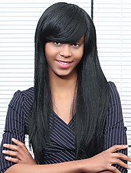 Elegance  Long Straight Human Hair Capless  Wigs