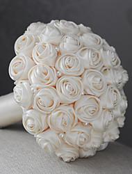 """Fleurs de mariage Rond Roses Bouquets Mariage Satin 6.69""""(Env.17cm)"""