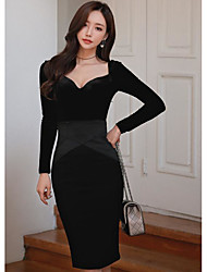 новая корейская версия сексуальная черная рубашка + юбка пакет бедра кусок