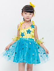 Ballet Dresses Children's Performance Polyester Bow(s) Appliques Sequins 3 Pieces Sleeveless High Dress Bracelets