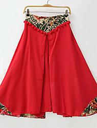 Zeichen von dora Frühjahr 2017 neue Frauen&# 39; s nationale Wind Perspektive Taille große Schaukel Röcke ein Wort Rock