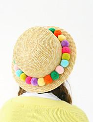 Mujer Sombrero Playero Sombrero de Paja Sombrero para el sol Bonito Casual-Verano-Paja